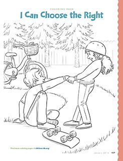I can choose the right coloring page Primary 2 Lesson 2 ...