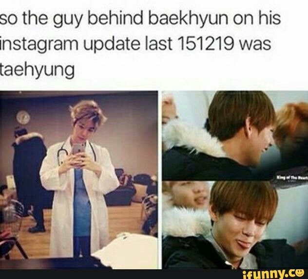 V from bts and baekhyun from exo