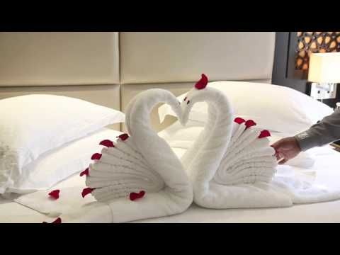 How To Make Towel Art Towel Origami Swans Towel Folding Diwali Decoration Ideas Youtube Towel Origami How To Fold Towels Origami Towel Folding