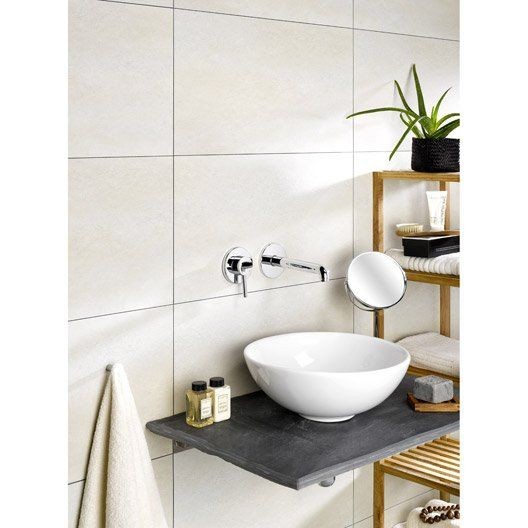 Dalle Murale Pvc Beige Dumawall L 65cm X L 37 5cm Ep 5mm Bathroom Wall Tile Wall Tiles Wall Paneling Diy
