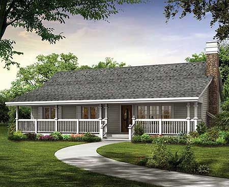Plan 88442sh Simple Country Cottage In 2021 Country Style House Plans Ranch Style House Plans House Plans Farmhouse