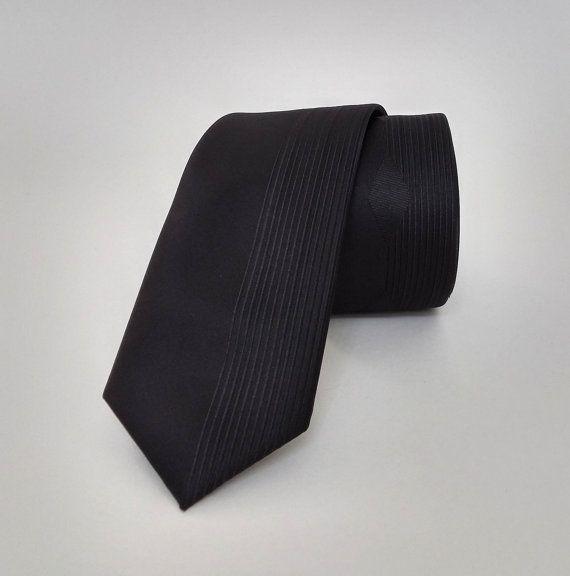 Tie - Black Tie - Men's Necktie - Black Necktie - SL455 #handmadeatamazon #nazodesign