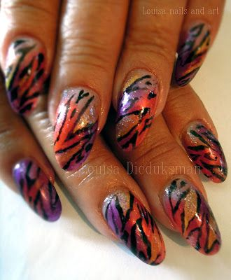 Louisa nails and art: Full Color Animal Print