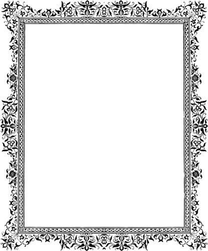 Free Ornate Black And White Victorian Frame Border Bingkai Undangan Pengeditan Foto