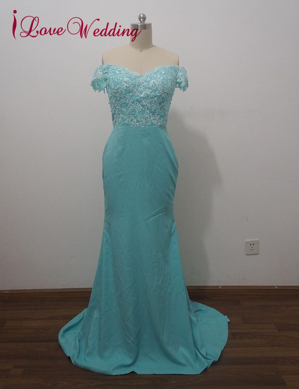 Ilovewedding mermaid evening dresses formal sweetheart appliques