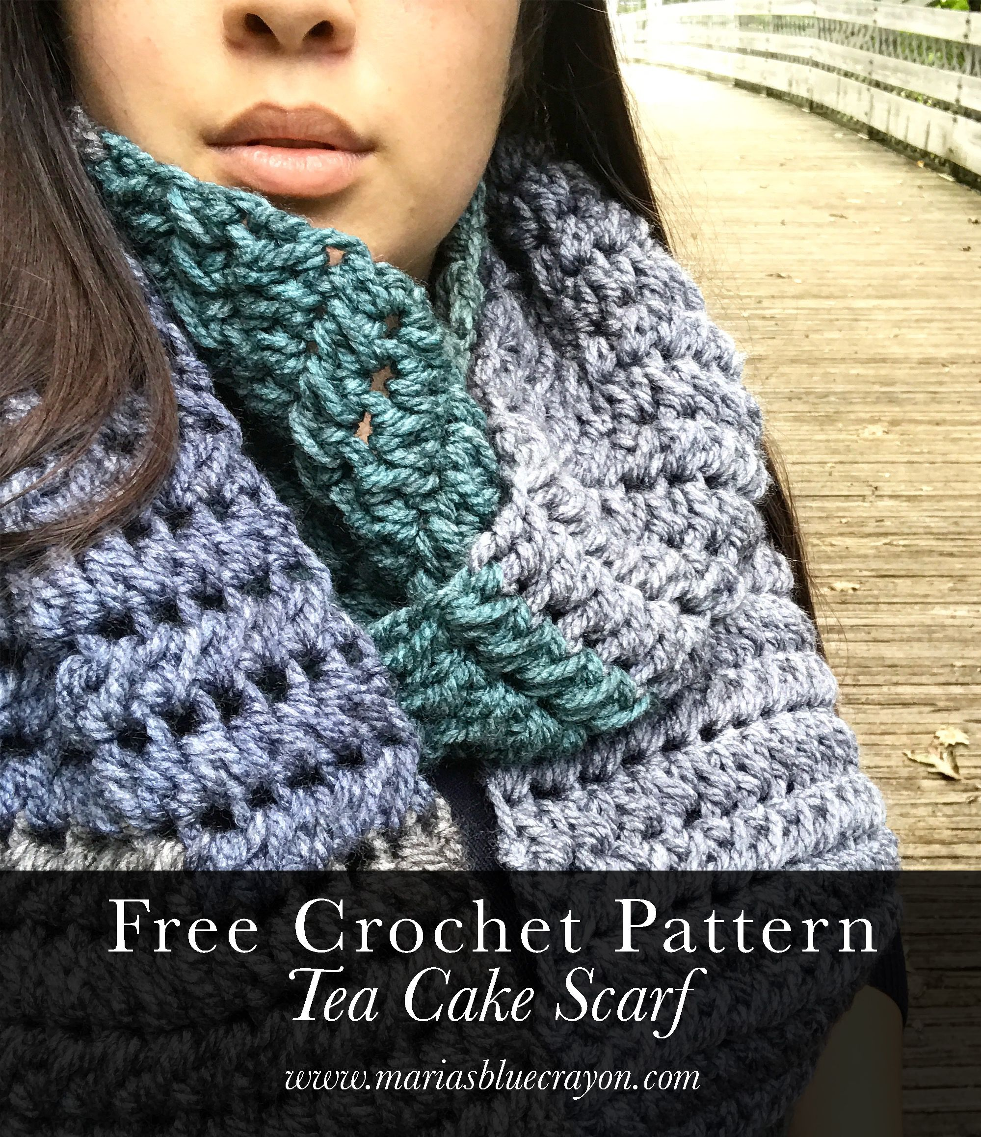 Tea Cake Scarf Crochet Pattern | Pinterest