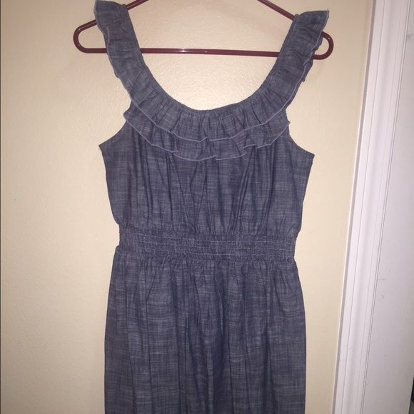 Scoop neck dress Very cute with cowgirl boots. It has a denim look and it's very comfortable. As U Wish Dresses
