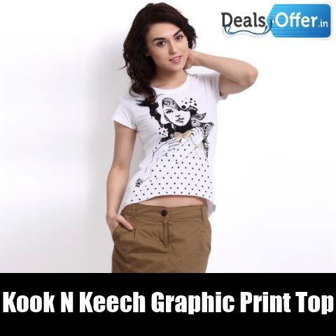 Kook N Keech Graphic Print Top @ 50% Off
