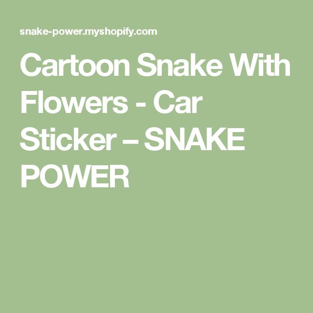 Cartoon Snake With Flowers - Car Sticker – SNAKE POWER