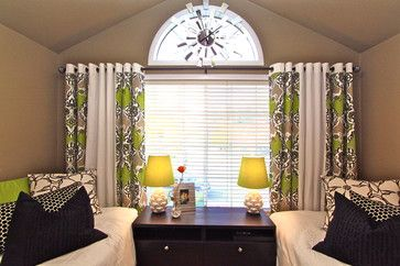 Make Your Own Window Treatments Out Of Shower Curtains Modern Bedroom San Go Robeson Design By Dolores