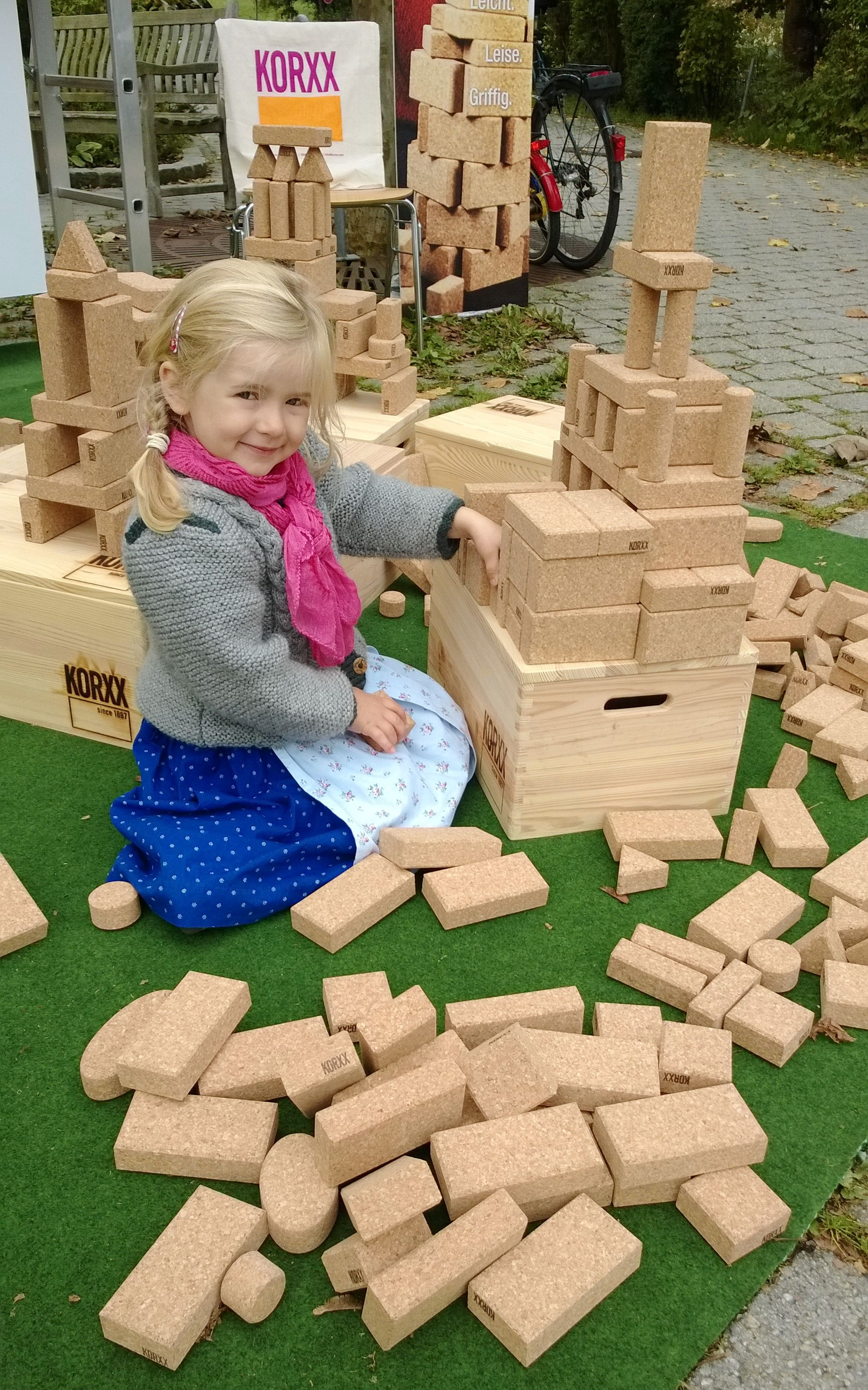 KORXX Outdoor Play cork building blocks