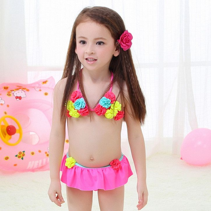 Toddler Kid Baby Girls Flower Bikini Swimwear Swimsuit Bathing Suit Beachwear US