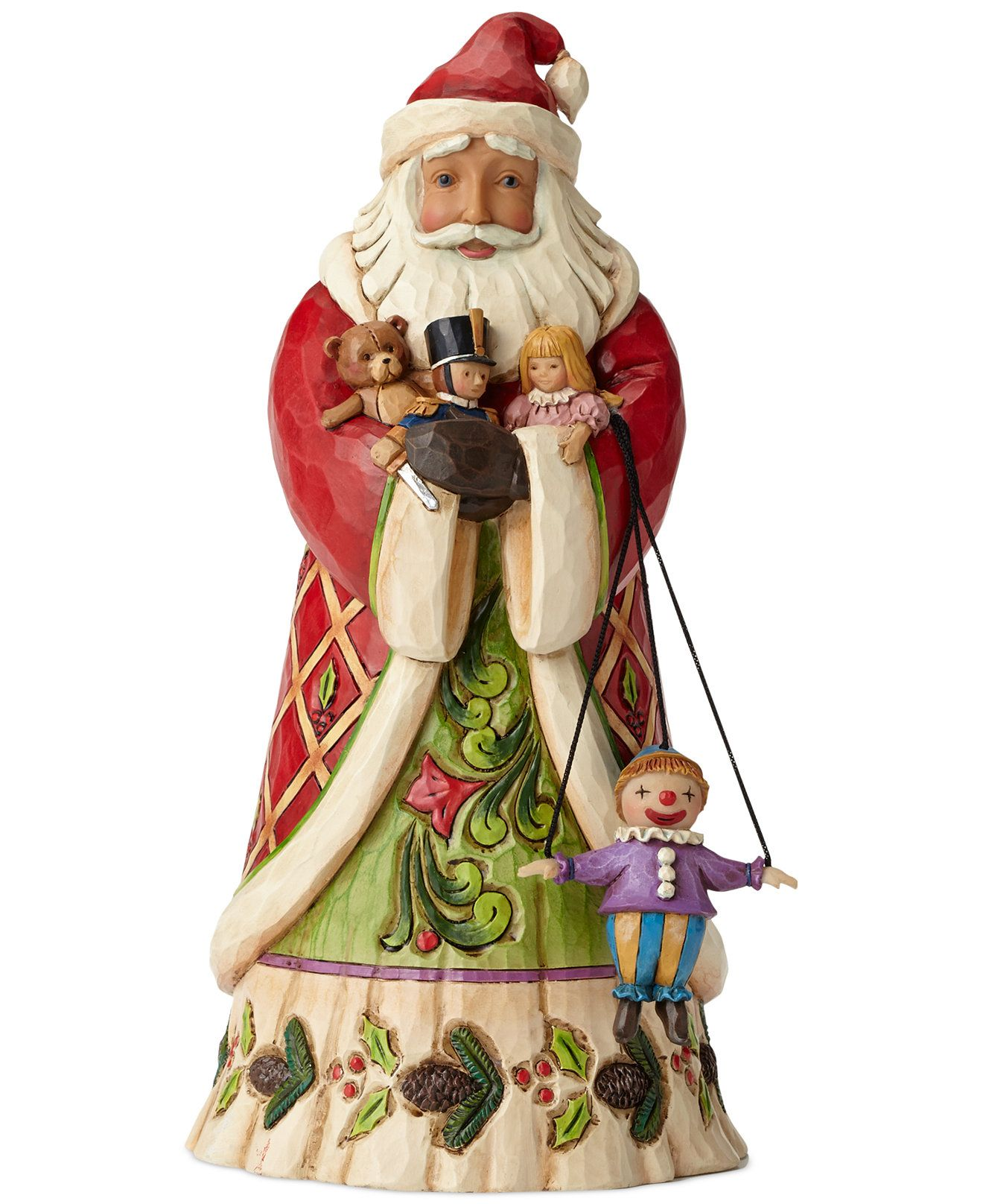 Jim Shore Santa With Toys Collectible Figurine Christmas Decorations For The Home Macy S Jim Shore Christmas Jim Shore Christmas Figurines