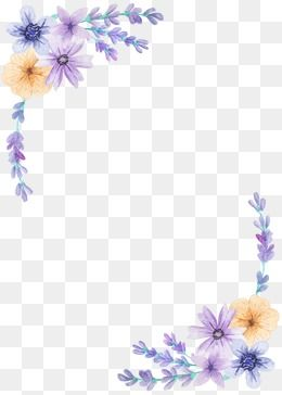 Lavender Flowers Watercolor Png And Vector With Transparent Background For Free Download Arte Flor Flores Em Png Fundo Convite
