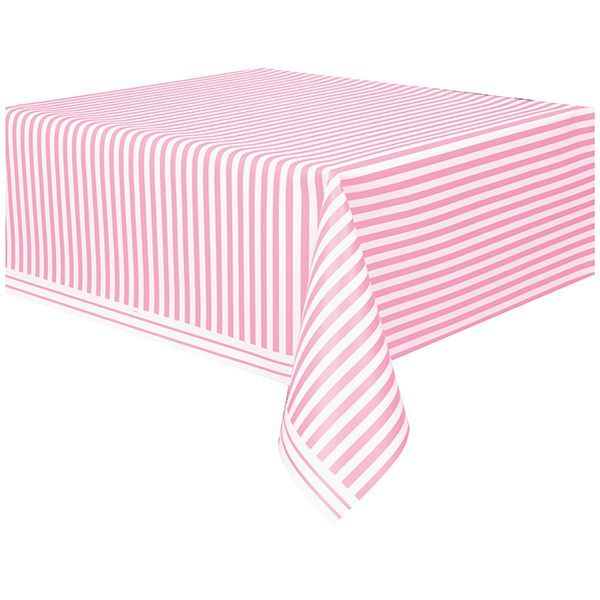 Lovely Pink Stripes Plastic Table Cover 54in x 108in | Plastic table covers Plastic tables and Table covers  sc 1 st  Pinterest & Lovely Pink Stripes Plastic Table Cover 54in x 108in | Plastic table ...