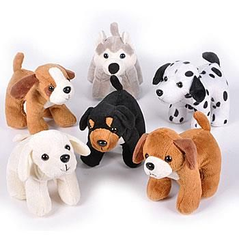 Set Of Dog Stuffed Animals, Toy Set Of 3 Adorable Plush Sitting Puppy Dogs Party Prize Favor Gift Approx 5 In U S Toys Games Stuffed Animals Plush Toys