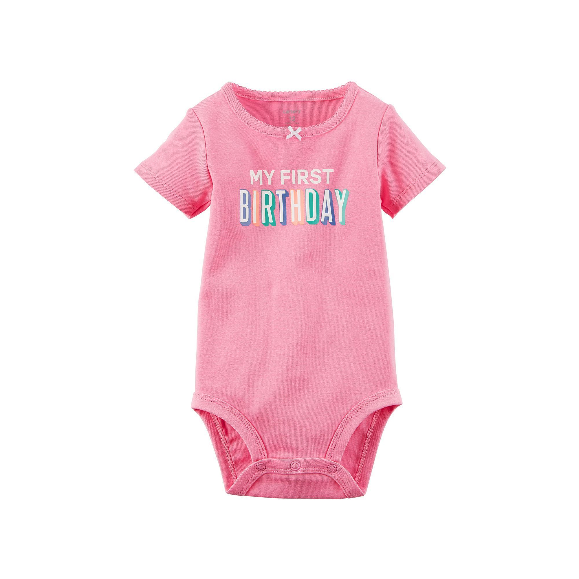 "Baby Girl Carter s ""My First Birthday"" Bodysuit Size 18 Months"