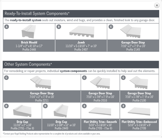 Delightful Royal Building Products Garage Door Trim System. Available At Home Depot.