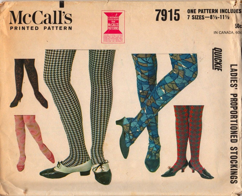 Mccalls 7915 1960s ladies stockings sewing pattern 7 sizes uncut mccalls 7915 1960s ladies stockings sewing pattern 7 sizes uncut jeuxipadfo Gallery