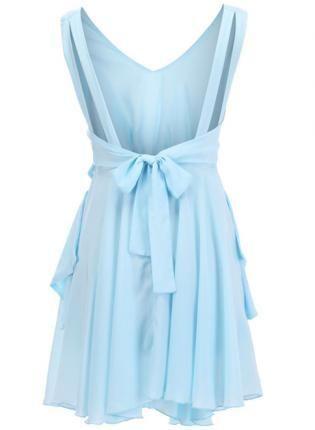Cut-out Pleated Blue Dress - Designer Shoes Bqueenshoes.com