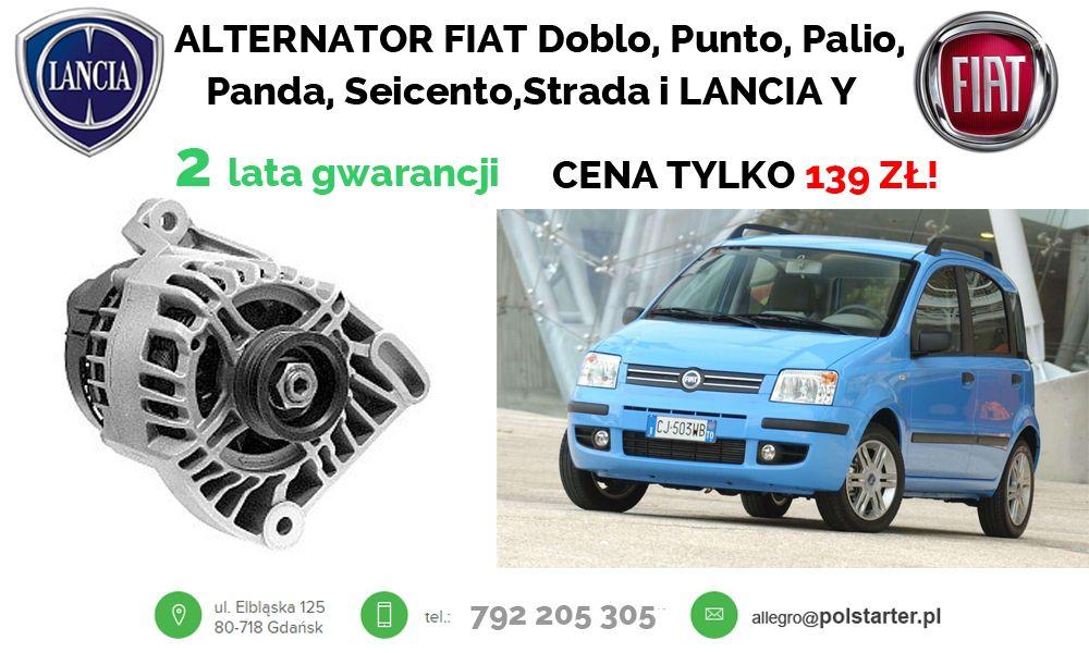 Okazja W Polstarter Regenerowany Alternator Fiat Doblo Punto Palio Panda Seicento Strada I Lancia Y W Cenie 139 Zl Plus 2 L Fiat Doblo Fiat Alternator