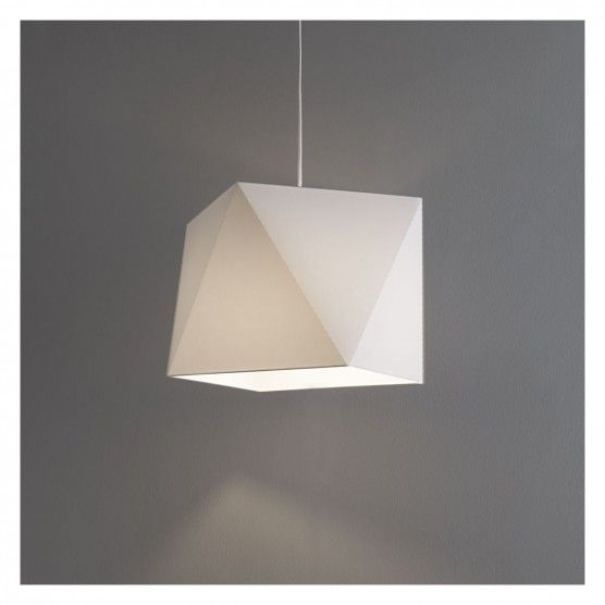Emmett white medium faceted lampshade buy now at habitat uk