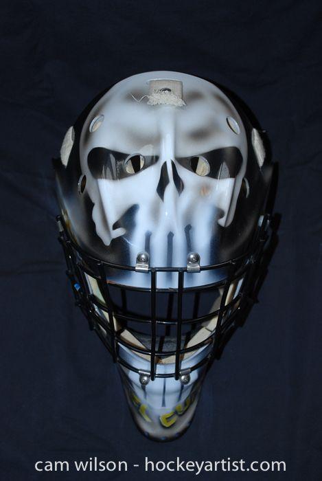 a149758be42 Punisher Afghanistan Goalie Mask - Airbrushing by Cam Wilson  www.hockeyartist.com