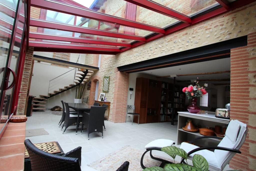 cr er ouverture maison ancienne mur porteur veranda recherche google chanolles pinterest. Black Bedroom Furniture Sets. Home Design Ideas