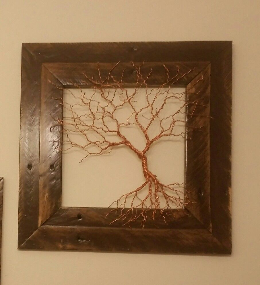 Frame Wire Trees Data Circuit Diagram Board Picture Geekery Pinterest Copper Tree With Reclaimed Pallet Wood Rh Com Cone
