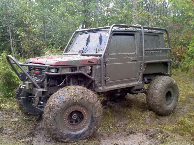 Muddy Suzuki Samurai  Cool Exocage! | Monster trucks, Four