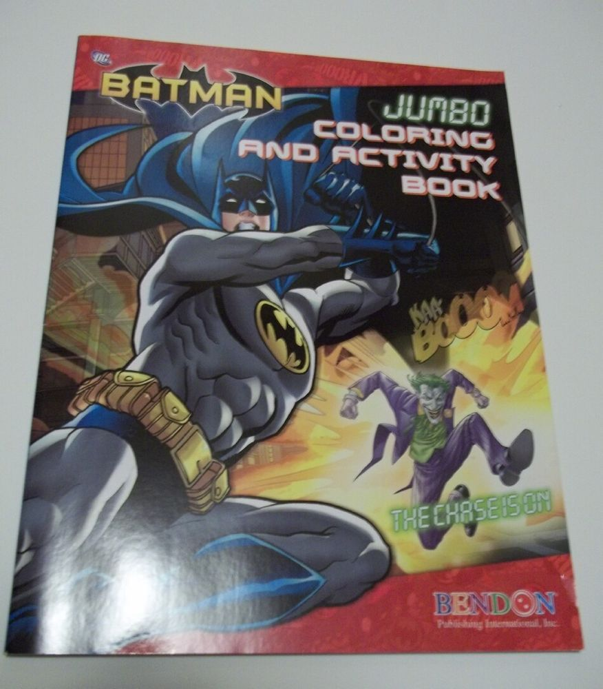BATMAN The Chase Is On JUMBO Coloring Activity Book 2012 Unused