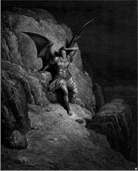 Johann Heinrich Füssli - Lucifero, da La Divina Commedia.