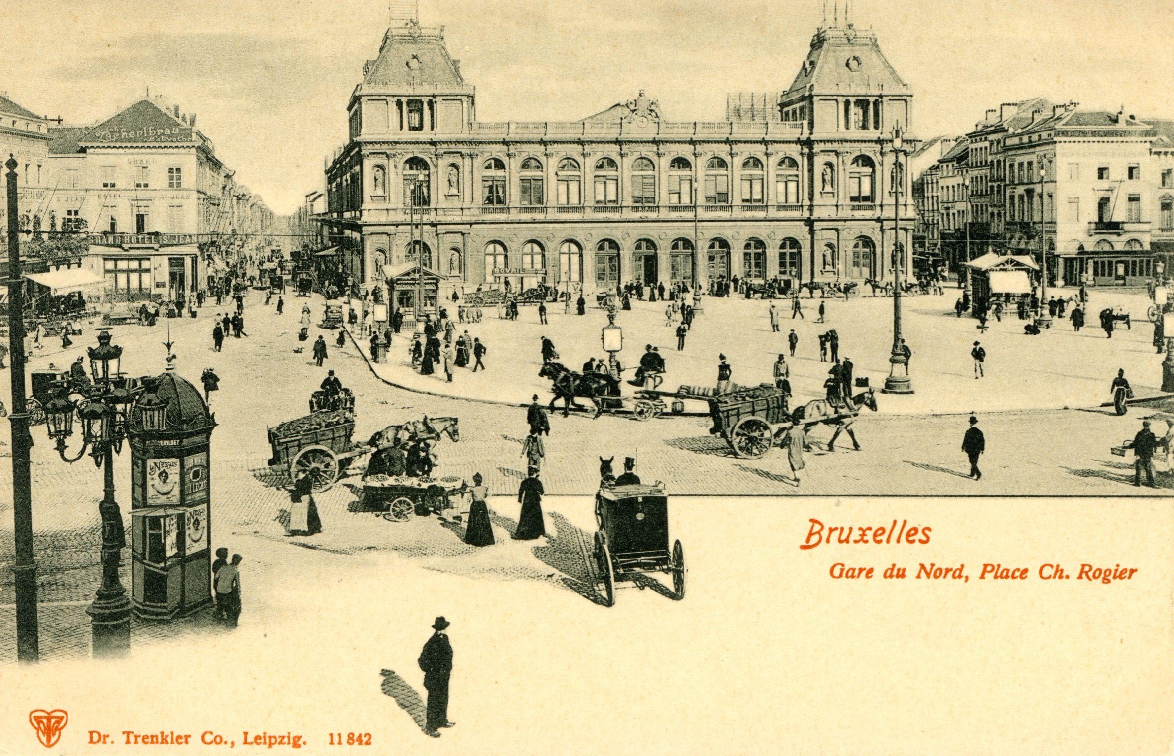Brussel Bruxelles Noordstation Gare Du Nord Vintage Architecture Brussel Photo