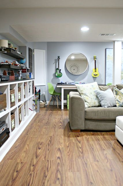 Allure Vinyl Flooring Review And A Great Basement Reno @ThriftyDecorChick!