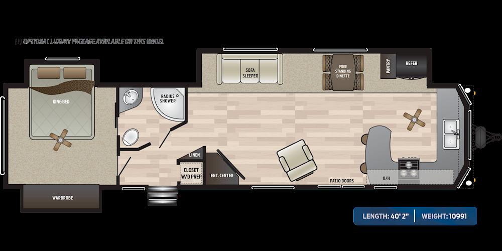Retreat Destination Trailers Floorplans Keystone Rv Visit Our Website To View Current Floorplans Floor Plans Retreat Luxury Packaging