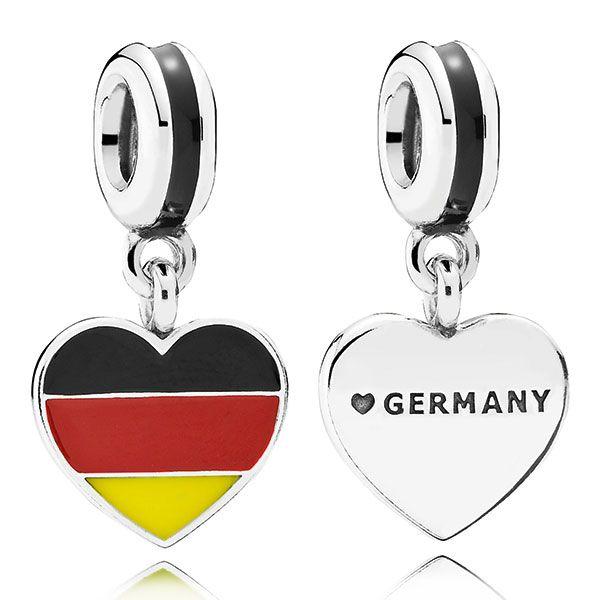 PANDORA Germany Heart Flag Charm