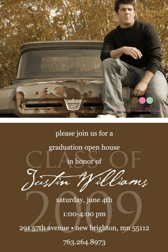 Simply Classic Custom Photo Graduation Open by KimNelsonCreative – Create Your Own Graduation Invitations