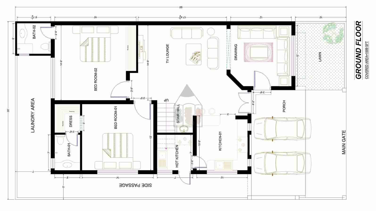 Beautiful 10 marla house plan as its layout plan is for Layout design of house