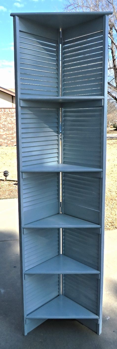 Shutter Shelving Beckwith S Treasures Old Closet Doors Recycled Door Diy Door