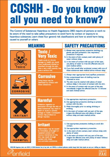COSHH Poster   security & safety   Pinterest   Safety and Safety ...
