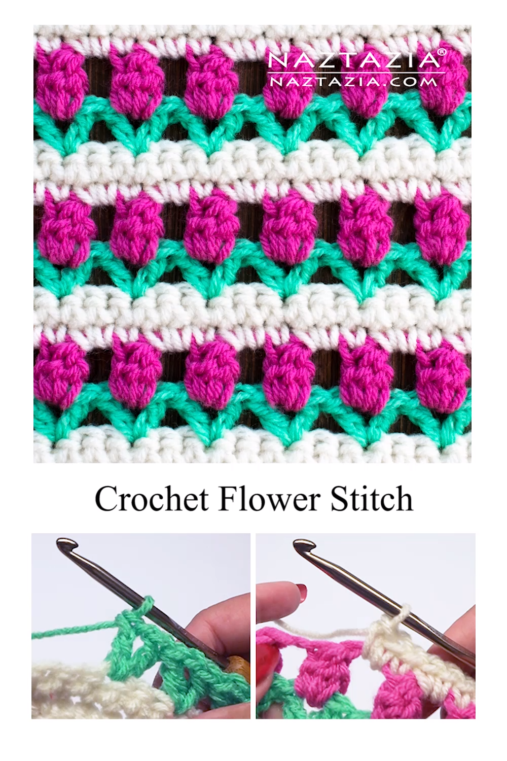 Crochet Flower Stitch #crochetstitches