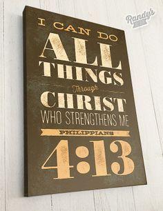 Custom Scripture Wall Art, Bible Verse, Canvas Art, Philippians Christian  Art Decor I Can Do All Things! Through Christ!