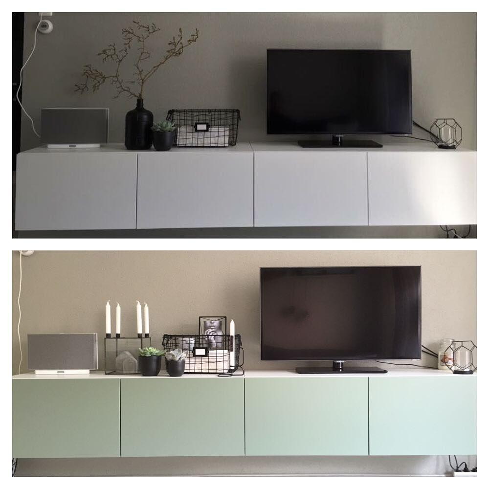 Lets Go Green With Ikea Besta Woonkamer Pinterest Green  # Composition Murale Tv Design
