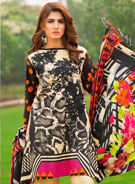 ce06754bfe Charizma D-03B Charizma Floss Embroidered Khaddar Linen Vol– 1 2017