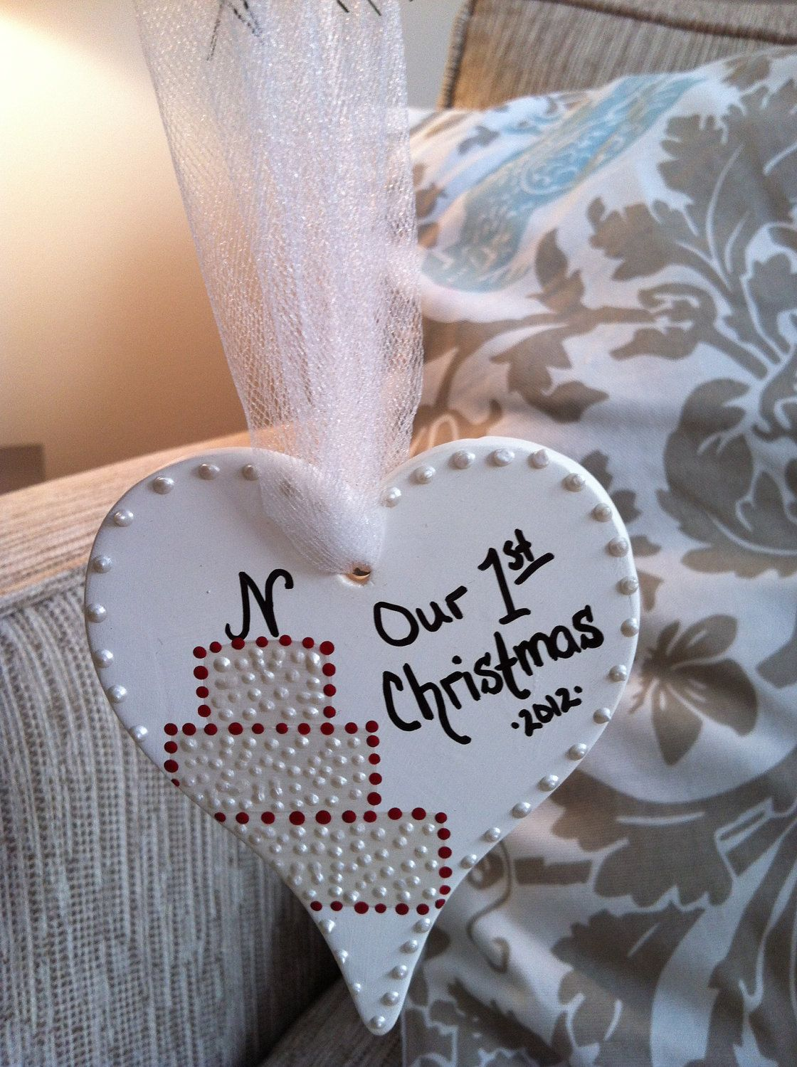 Custom first christmas ornament - Brittany S Custom Our First Christmas As Mr Mrs Ornament 2012