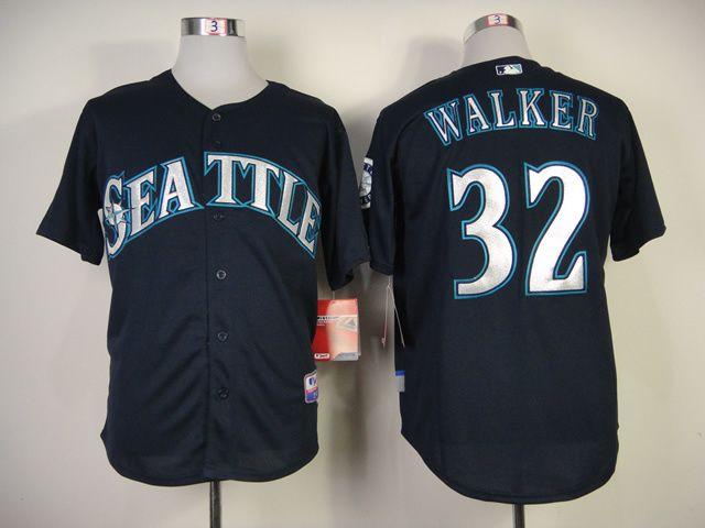 best website 950a6 82e85 Men's MLB Seattle Mariners #32 Walker Navy Blue Jersey ...