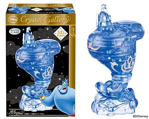 F S New Hanayama Crystal Gallery 3d Puzzle Aladdin The Genie Disney 35pcs Japan Crystal Gallery 3d Puzzles Disney Aladdin