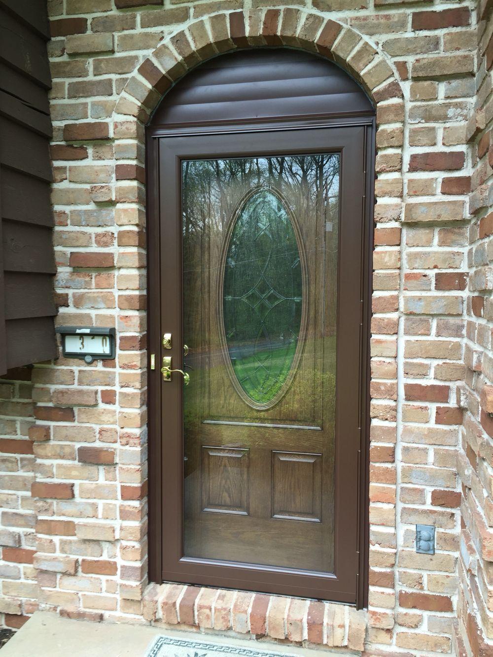 Therma Tru Entry Door With Provia Storm Door Exterior Front