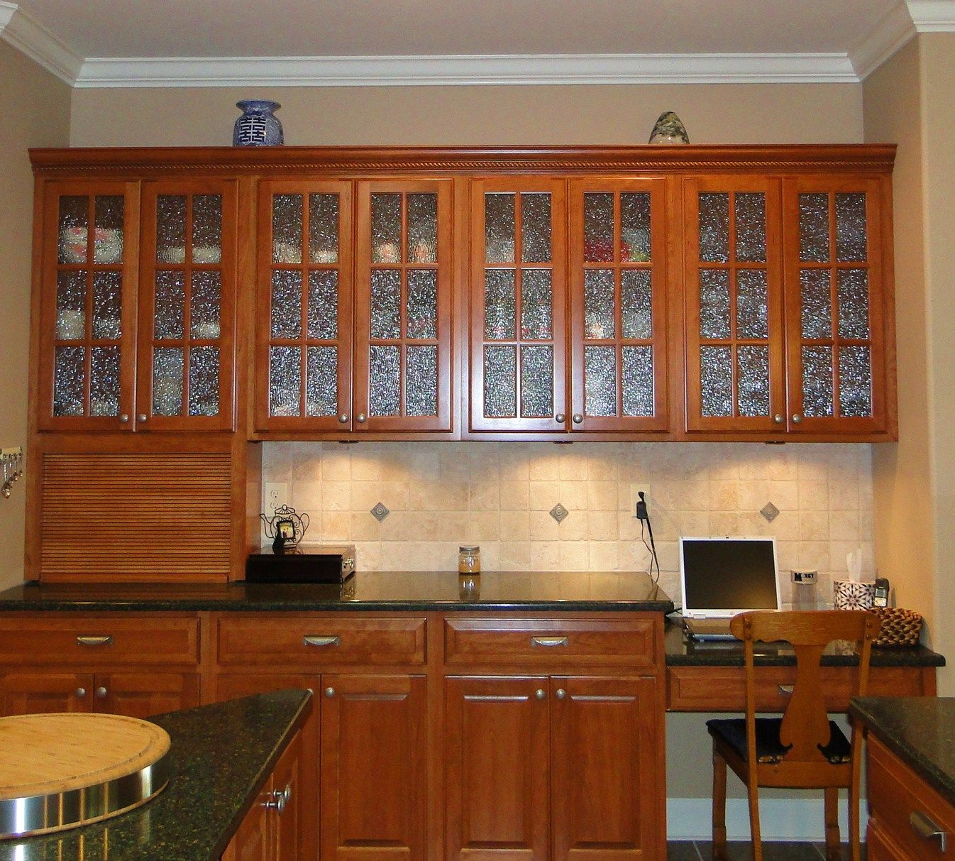 decorative glass kitchen cabinet doors. Glass Front Cabinets from  Specialty Kitchen Yay This pic has TWO things I want to pin First one is the top