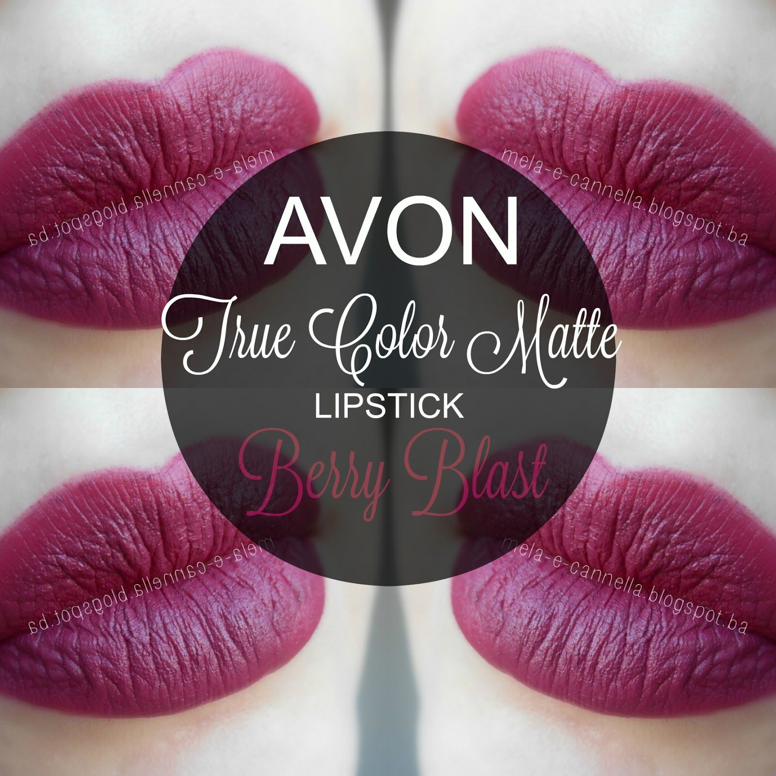 Mela E Cannella Avon True Color Matte Lipstick Berry Blast